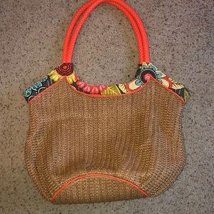 Vera Bradley straw purse